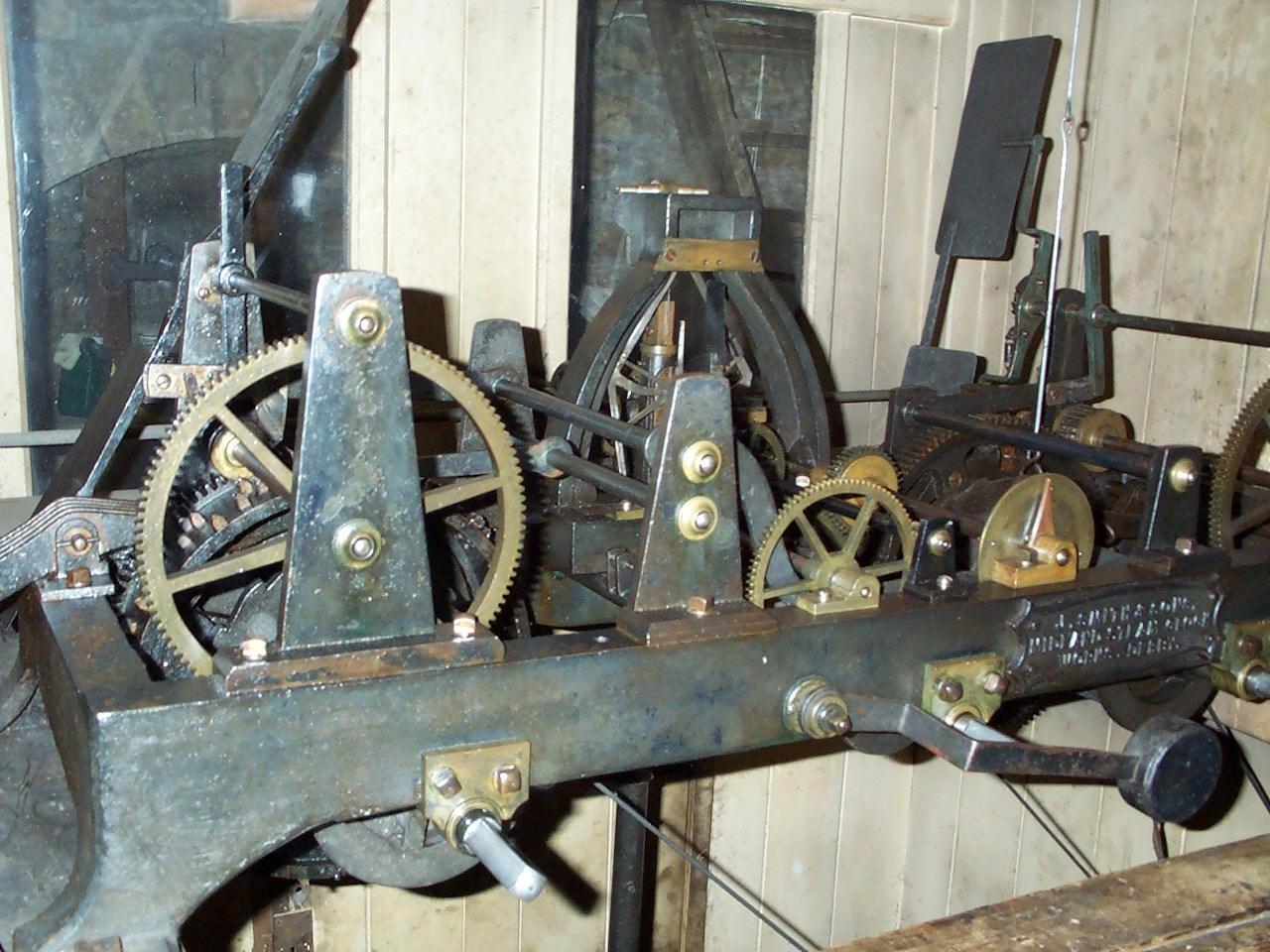 Clock mechanism by John Smith of Derby, installed in 1887